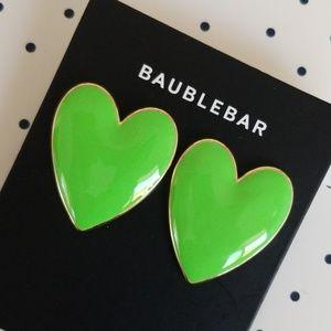 Baublebar Green Heart Earrings
